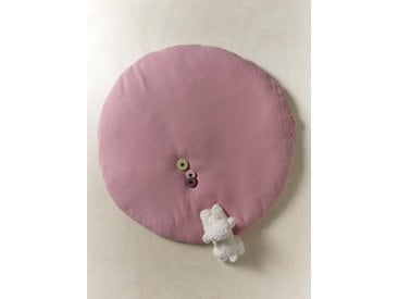 Coussin de sol gaze de coton rose fané