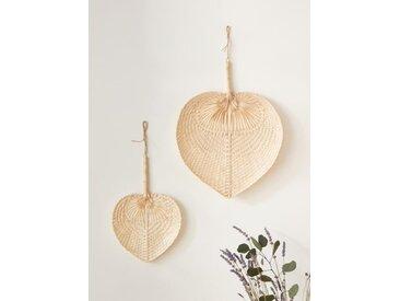 Éventail bambou par lot de 2 naturel