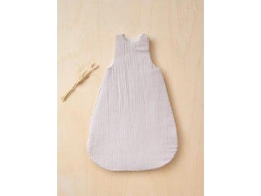 Gigoteuse en coton gaufré gris clair