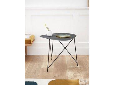 Table d'appoint métal - haute noir