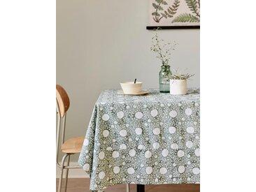 Nappe coton fleuri indien fleuri vert