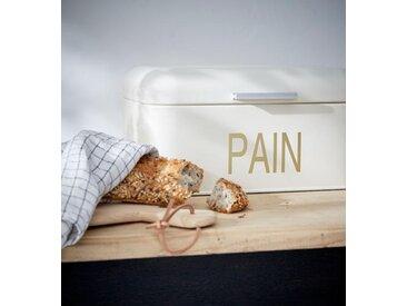 Boîte à pain métal ivoire