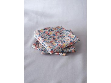 Serviette de table tissu Liberty par lot de 4 liberty claire aude (rose)