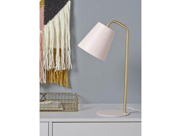 Lampe cloche en métal rose cuivré