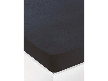 """Drap-housse uni en lin lavé """"Cocoon"""" bleu orion"""