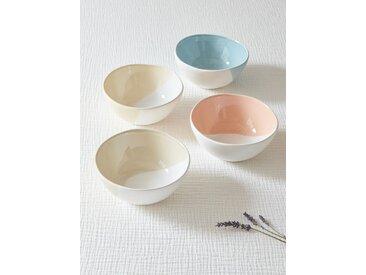 Bol céramique pastel par lot de 4 blanc / pastel