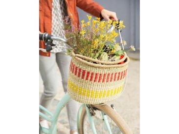 Panier à vélo adulte en paille naturel