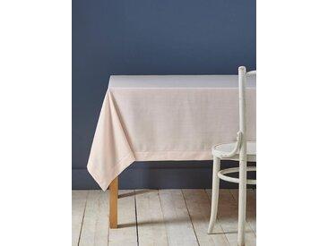 Nappe anti-taches aspect lin rose pâle