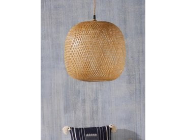 Suspension boule en bambou naturel
