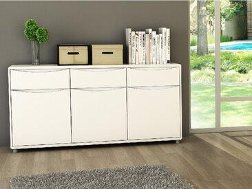Buffet SORRISO - Blanc - 3 portes & 3 tiroirs