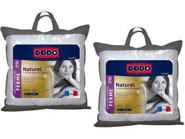 Lot de 2 oreillers DODO 50% duvet naturel NATUR - 50 x 70 cm