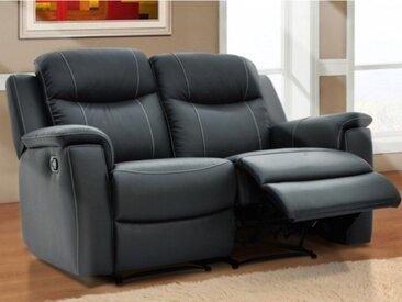 Canapé 2 places relax EVASION en cuir - Gris