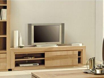 Meuble TV SYMPHONIE - 1 porte coulissante - 2 étagères - Chêne huilé
