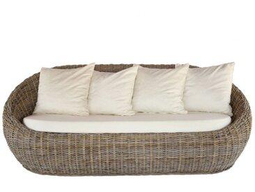 Canapé de jardin 3 places PESMES en kubu