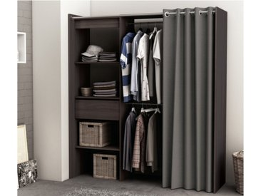 Dressing extensible KYLIAN - L114/168cm - Chocolat et gris