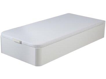 Sommier coffre HESTIA de DREAMEA PLAY - Blanc mat - 90x190cm