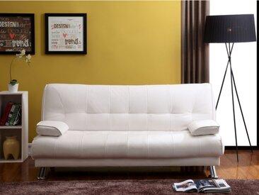 Canapé clic-clac MAXIME en simili - Blanc