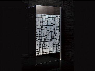 Paroi de douche à l'italienne LAURA sérigraphiée - 120x190cm