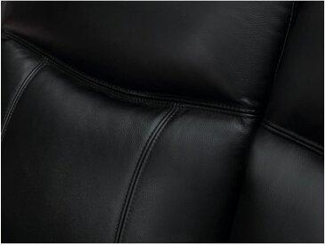 Canapé 2 places en cuir KENNETH - Noir