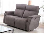 Canapé 2 places relax électrique HENEL en tissu  - Gris