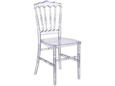Lot de 6 chaises empilables VICOMTE - Polycarbonate - Coloris transparent