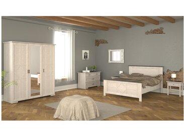 PACK Chambre Collection MAELIS : 5 produits CHAMBRE - Lit en 160x200cm