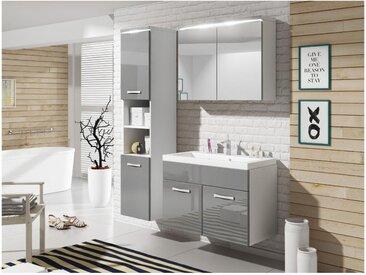 Ensemble NINA à leds - meubles de salle de bain - Laqué gris