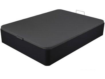 Sommier coffre ONIRY en simili de DREAMEA Play - 160x200cm - Noir mat