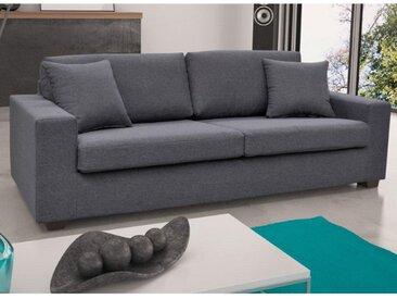 Canapé 3 places en tissu YUDO - Gris