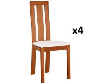 Lot de 4 chaises DOMINGO - Hêtre massif chêne