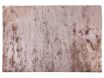 Tapis shaggy DOLCE taupe reflet beige - polyester - 140*200cm