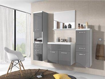 Ensemble CLAUDIA - meubles de salle de bain - laqué gris