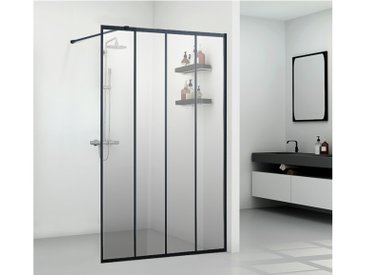 Paroi de douche à l'italienne style industriel ATALIA - 120*200 cm