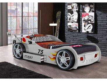 Lit voiture RUNNER avec tiroir - 90x200 cm - Blanc