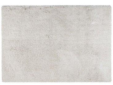 Tapis shaggy microfibre HARVEY - polyester - Blanc - 160*230cm