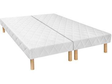 Pack sommiers déco tapissiers 14 lattes multiplis PANACEA de DREAMEA 2 x 90 x 200 cm
