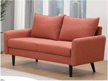 Canapé 2 places en tissu HALIA - Terracotta