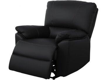 Fauteuil relax électrique en cuir MARCIS - Noir