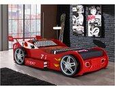 Lit voiture RUNNER avec tiroir - 90 x 200 cm - Rouge
