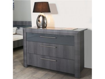 Commode BRITANY - 3 tiroirs - Finition orme gris