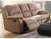 Canapé 3 places relax en microfibre HERNANI - Taupe