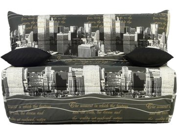 Canapé BZ en tissu CANYON fermeture assistée, 140x190 cm - New York