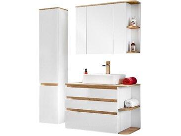 Ensemble ANIDA - meubles de salle de bain - bois et blanc