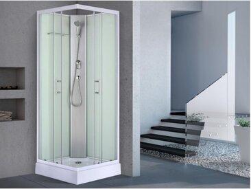 Cabine de douche d'angle HERA en verre trempé - 80x80x215cm