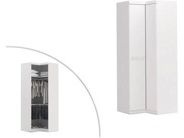 Armoire d'angle ALRIK - 2 portes - L.93cm -  Blanc