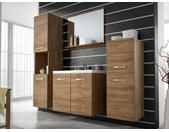 Ensemble MIELA - meubles de salle de bain - effet bois