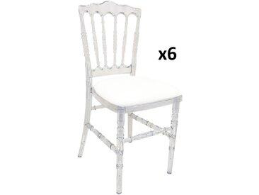 Lot de 6 chaises empilables VICOMTE avec galettes de chaise - Polycarbonate