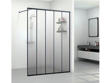 Paroi de douche à l'italienne style industriel ATALIA - 140*200 cm