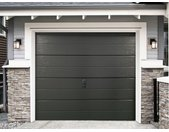 PACK porte de garage sectionnelle lisse BALIDO anthracite + moteur ECO LINE