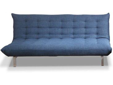 Canapé 3 places clic clac en tissu HORNET - Bleu